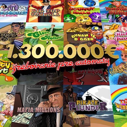 1.300.000€ žrebovanie pre automaty