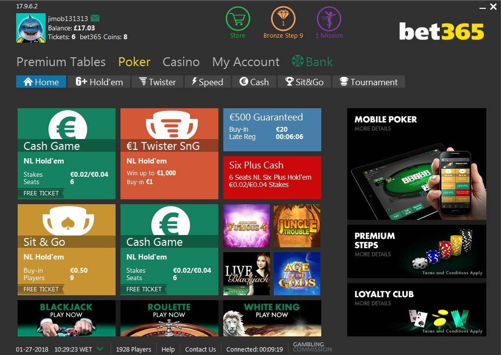 Poker at bet365 - Poker Software